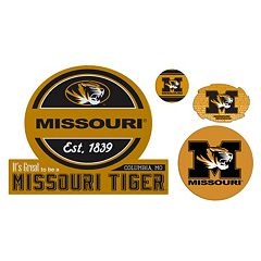Missouri Tigers Game Day 4 pc Magnet Set
