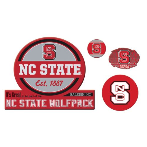 North Carolina State Wolfpack Game Day 4-Piece Magnet Set