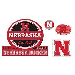 Nebraska Cornhuskers Game Day 4-Piece Magnet Set