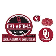 Oklahoma Sooners Game Day 4 pc Magnet Set