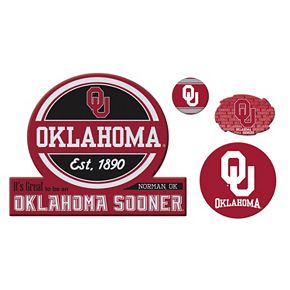 Oklahoma Sooners Game Day 4-Piece Magnet Set
