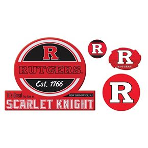 Rutgers Scarlet Knights Game Day 4-Piece Magnet Set