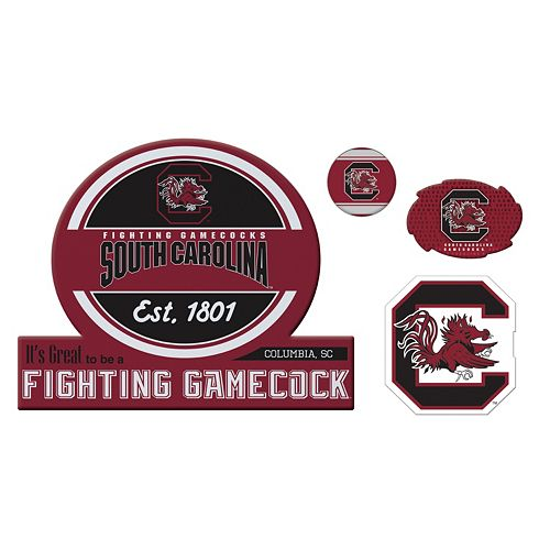 South Carolina Gamecocks Game Day 4-Piece Magnet Set