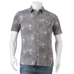 Mens Grey Button-Down Shirts Cotton Tops, Clothing | Kohl's