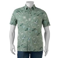 Big & Tall Croft & Barrow® Classic-Fit Tropical Button-Down Shirt
