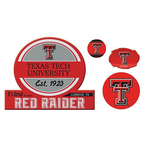 Texas Tech Red Raiders Game Day 4-Piece Magnet Set