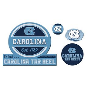 North Carolina Tar Heels Game Day 4-Piece Magnet Set