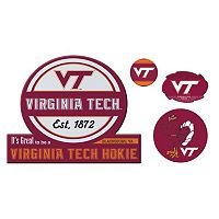 Virginia Tech Hokies Game Day 4-Piece Magnet Set
