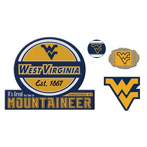 West Virginia Mountaineers Game Day 4-Piece Magnet Set