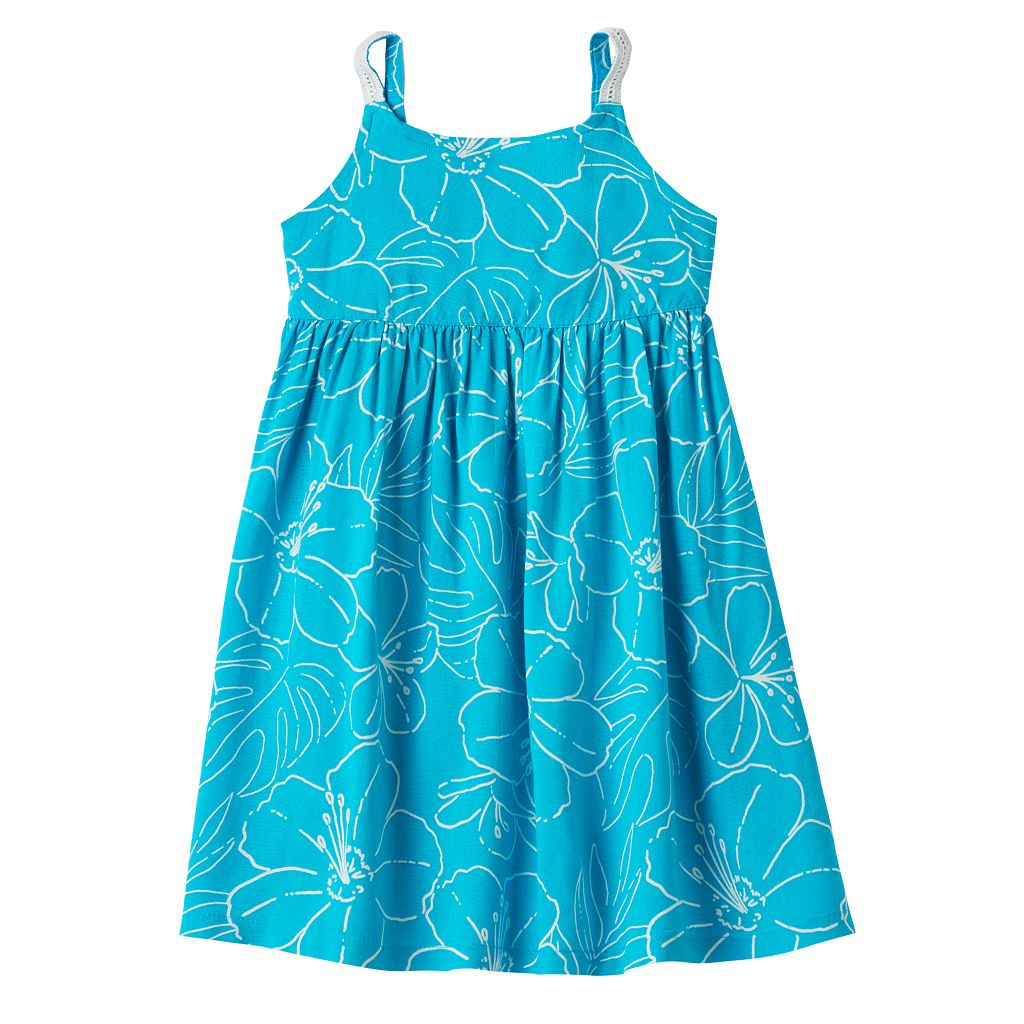 Toddler Girl Jumping Beans® Tiered Floral Chambray Dress