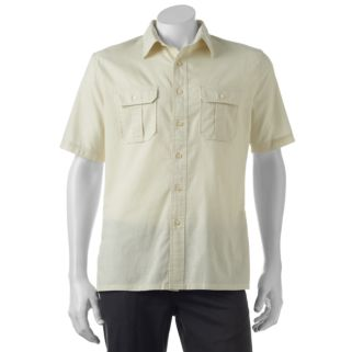 Big & Tall Croft & Barrow® Classic-Fit Crosshatch Button-Down Shirt