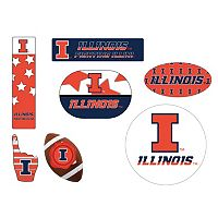 Illinois Fighting Illini Tailgate 6 pc Magnet Set