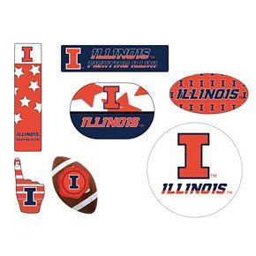 Illinois Fighting Illini Tailgate 6-Piece Magnet Set
