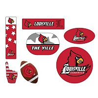 Louisville Cardinals Tailgate 6 pc Magnet Set