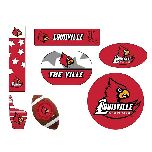 Louisville Cardinals Tailgate 6-Piece Magnet Set