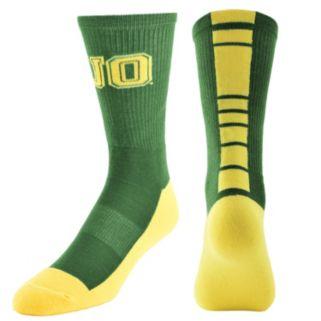 Women's Mojo Oregon Ducks Champ 1/2-Cushion Performance Crew Socks