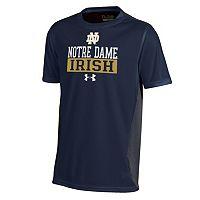 Boys 8-20 Under Armour Notre Dame Fighting Irish Colorblock Tech Tee