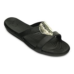 Crocs Sanrah Hammered-Metallic Women's Sandals