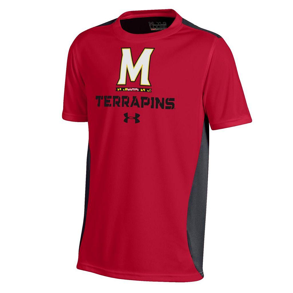 Boys 8-20 Under Armour Maryland Terrapins Colorblock Tech Tee
