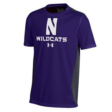 Boys 8-20 Under Armour Northwestern Wildcats Colorblock Tech Tee