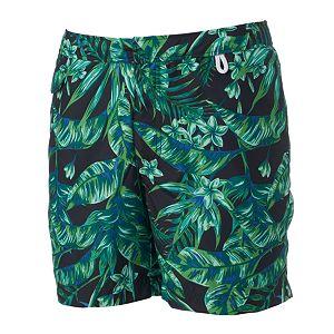 Men's Cole Slim-Fit Tropical Hybrid Swim Shorts