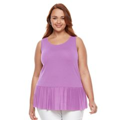 Plus Size Apt. 9® Pleated Peplum Tank Top