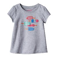 Baby Girl Jumping Beans® Embroidered Popsicle Graphic Tee