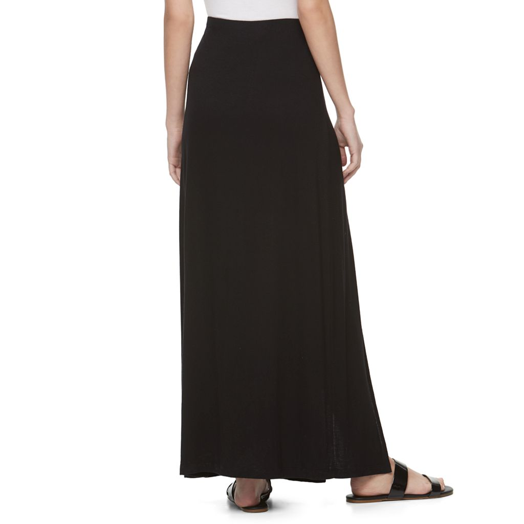 Juniors' Candie's® Double Slit Maxi Skirt