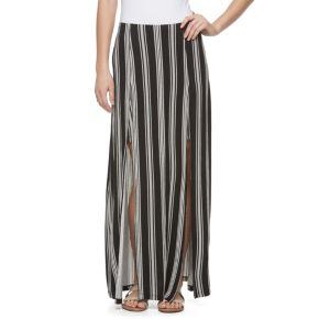Juniors' Candie's® Double Slit Maxi Skirt