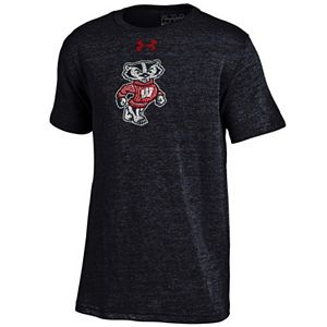 Boys 8-20 Under Armour Wisconsin Badgers Triblend Tee
