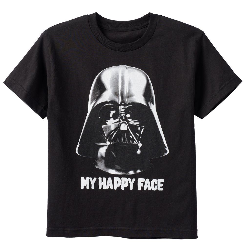 Boys 8-20 Star Wars Darth Vader Happy Face Tee