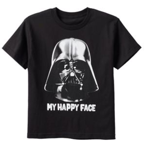 Boys 8-20 Star Wars Darth Vader Happy Face Tee