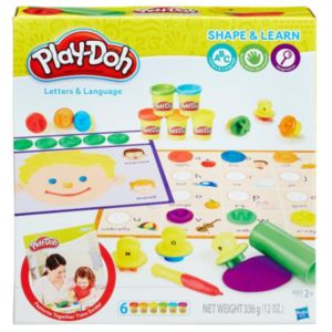 Play-Doh Shape & Learn Letters & Language Set