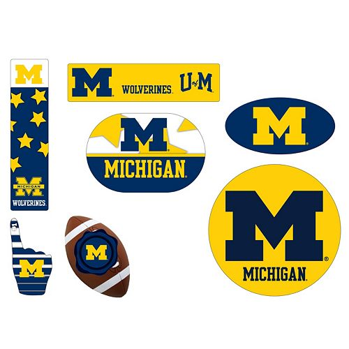 Michigan Wolverines Tailgate 6-Piece Magnet Set