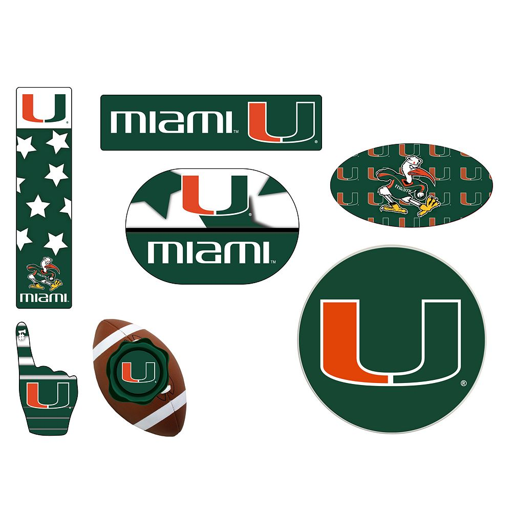 Miami Hurricanes Tailgate 6-Piece Magnet Set