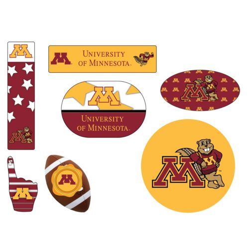 Minnesota Golden Gophers Tailgate 6-Piece Magnet Set