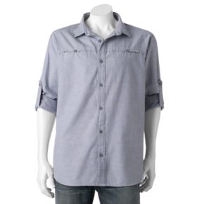 Men's Columbia Battle Mountain Classic-Fit Roll-Tab Button-Down Shirt