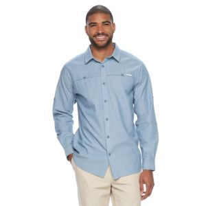 Men's Columbia Battle Mountain Classic-Fit Roll-Tab Button-Down Shirt