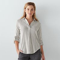 Women's SONOMA Goods for Life™ High-Low Striped Top