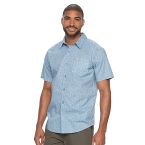 Men's Columbia Corwin Spring Classic-Fit Camping Performance Button-Down Shirt