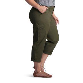 Plus Size Lee Presley Crop Cargo Pants