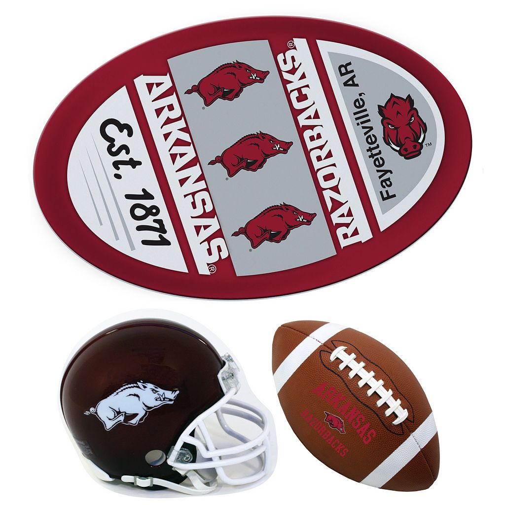 Arkansas Razorbacks Helmet 3-Piece Magnet Set