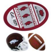 Arkansas Razorbacks Helmet 3-Piece Magnet Set