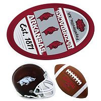 Arkansas Razorbacks Helmet 3 pc Magnet Set