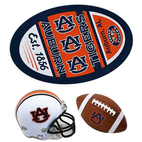 Auburn Tigers Helmet 3-Piece Magnet Set