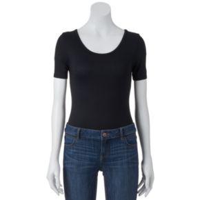 Juniors' About A Girl Short Sleeve Bodysuit