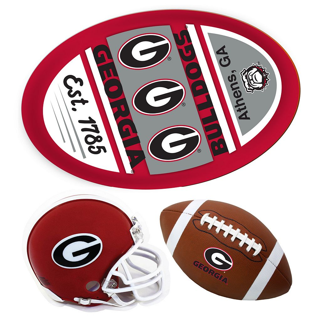 Georgia Bulldogs Helmet 3-Piece Magnet Set