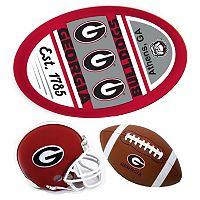 Georgia Bulldogs Helmet 3-Piece Magnet Set
