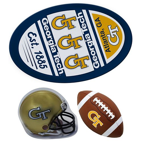Georgia Tech Yellow Jackets Helmet 3-Piece Magnet Set