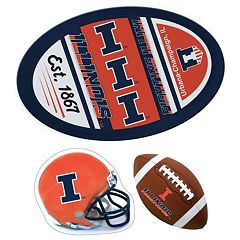 Illinois Fighting Illini Helmet 3 pc Magnet Set